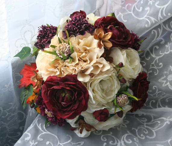 Boutonnieres Fall Leaves And Fall Wedding Rose Orange
