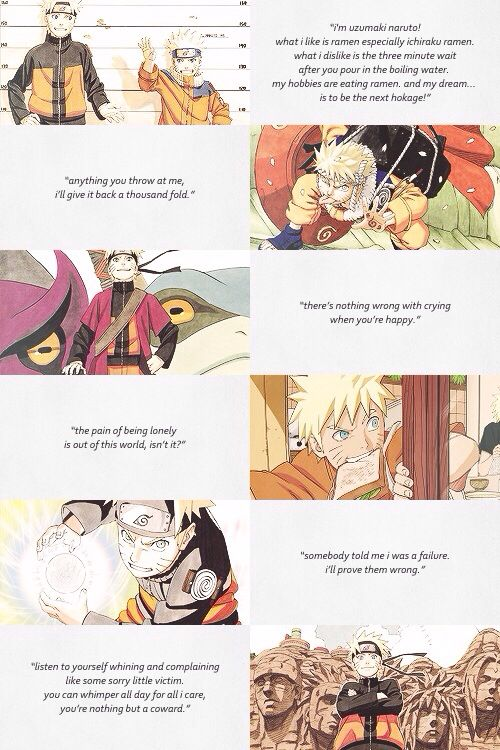 Naruto Collage Quotes Live