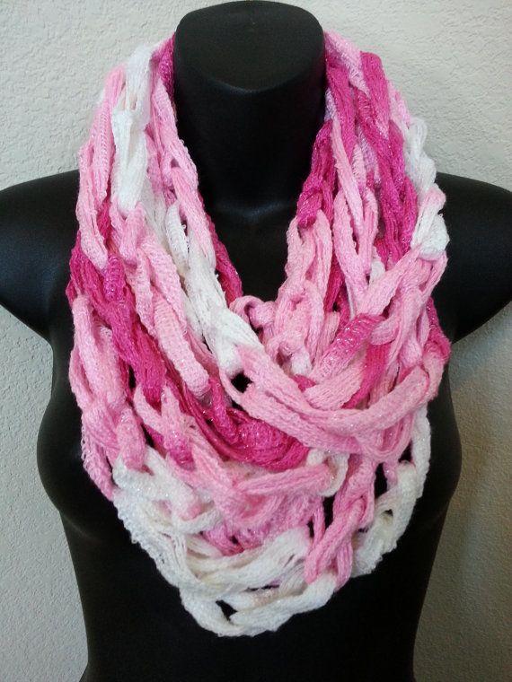 Crochet Chain Infinity Scarf Pattern