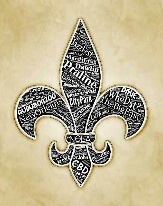 Saints New Svg Orleans Lis De Fleur