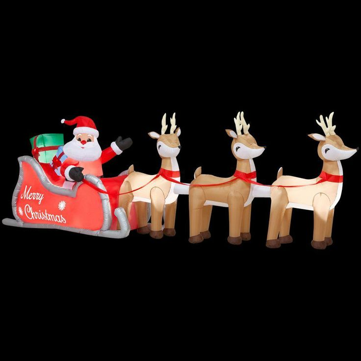 Home Accents Inflatable Santa