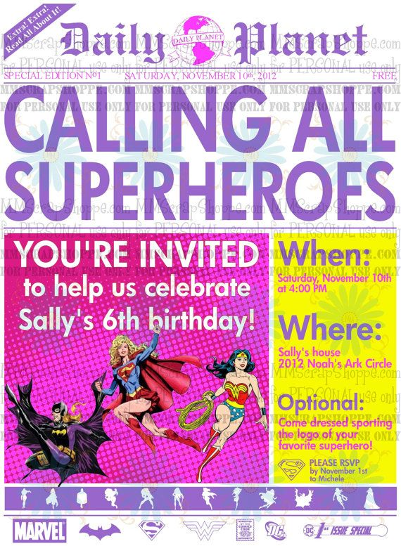 Bday Party Invite Template