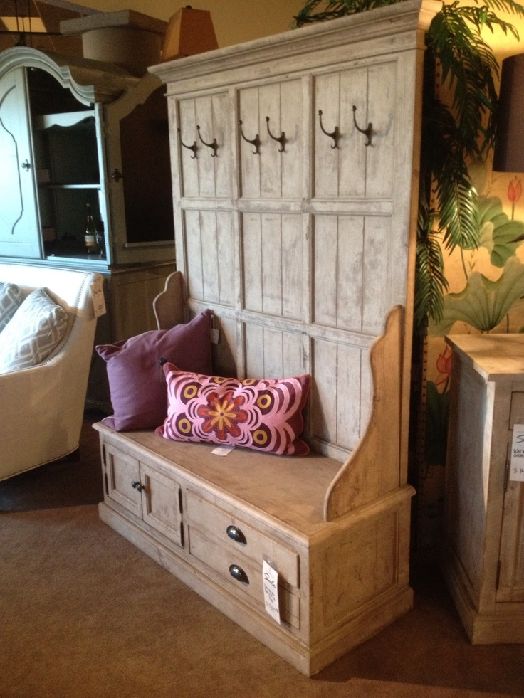 Entryway Bench And Coat Rack Painted Furniture
