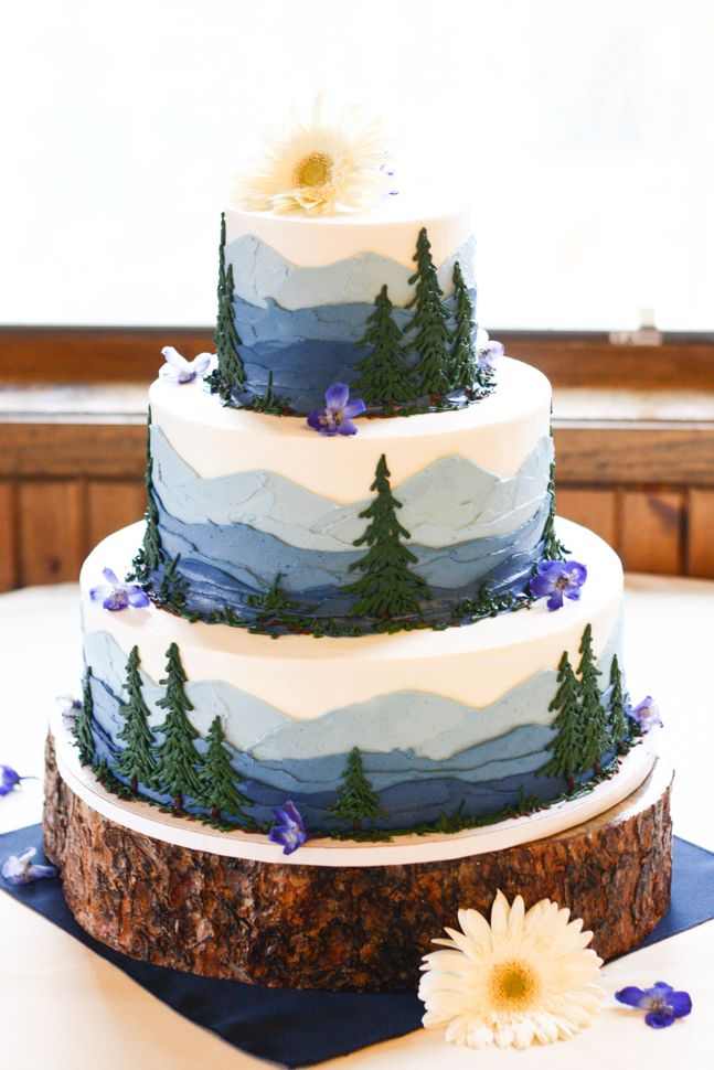 Wood Themed Wedding Cakes
