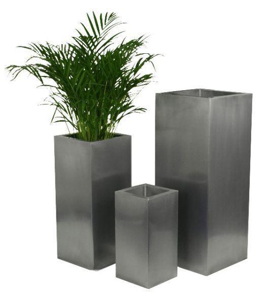 Tall Metal Planters