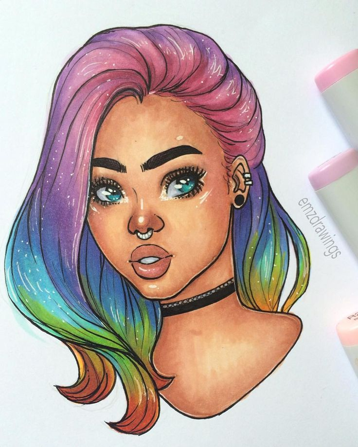 Cartoon Mixed Girl Natural Dope