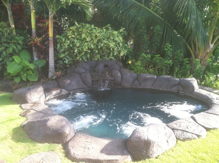 Natural Grotto Look Spa Faux Lava Rock With Waterfall