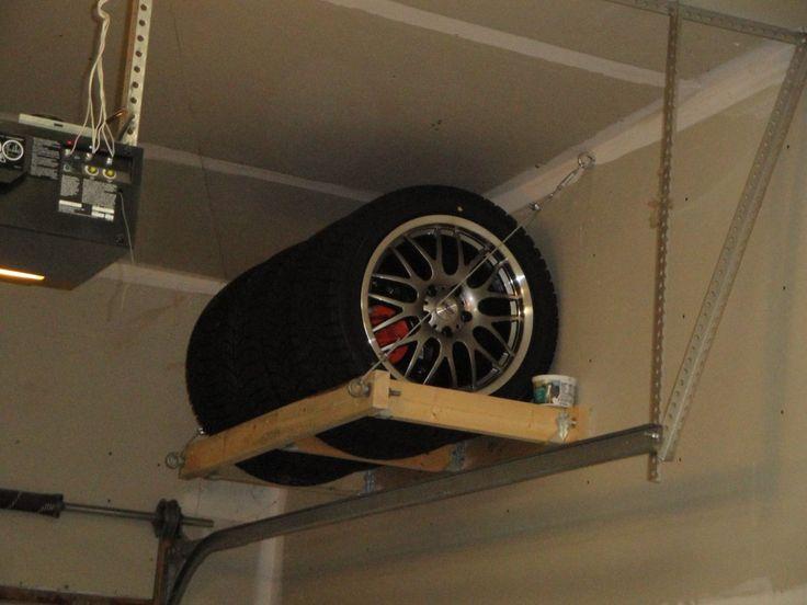 Wall Mount Tire Rack Diy