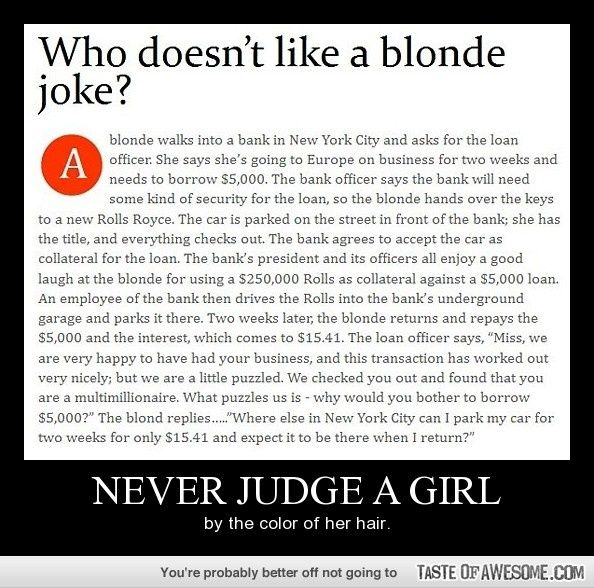 Blonde Jokes Hair Dye