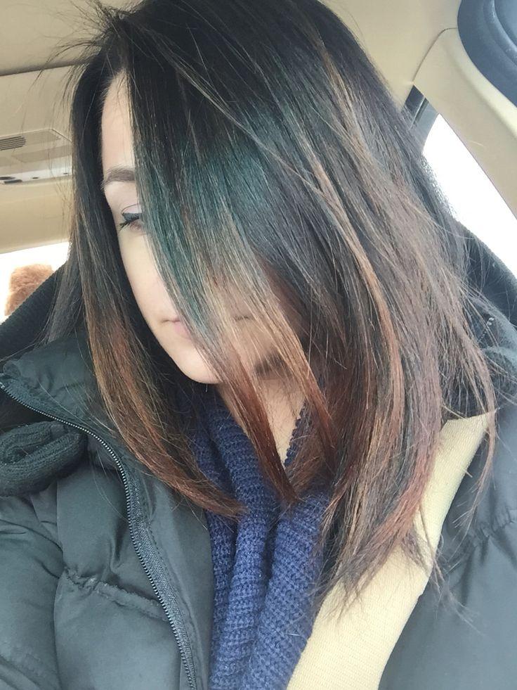 Balayage Hair Dark Brown Light Brown