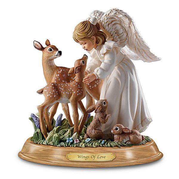 Angel Figurines Hinged Wings