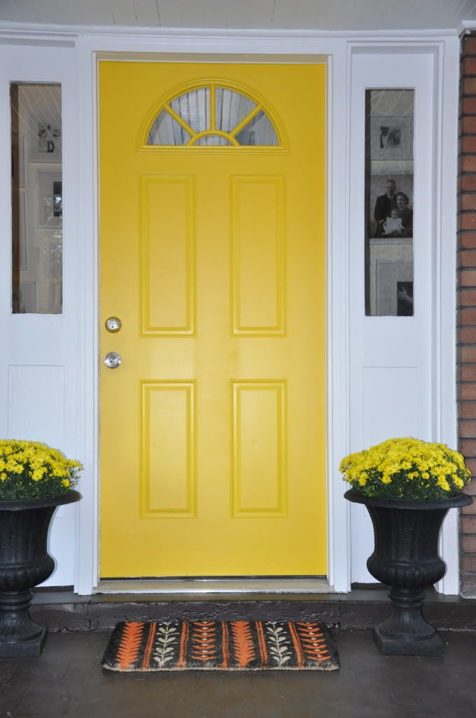 Yellow Front Door Paint Colors