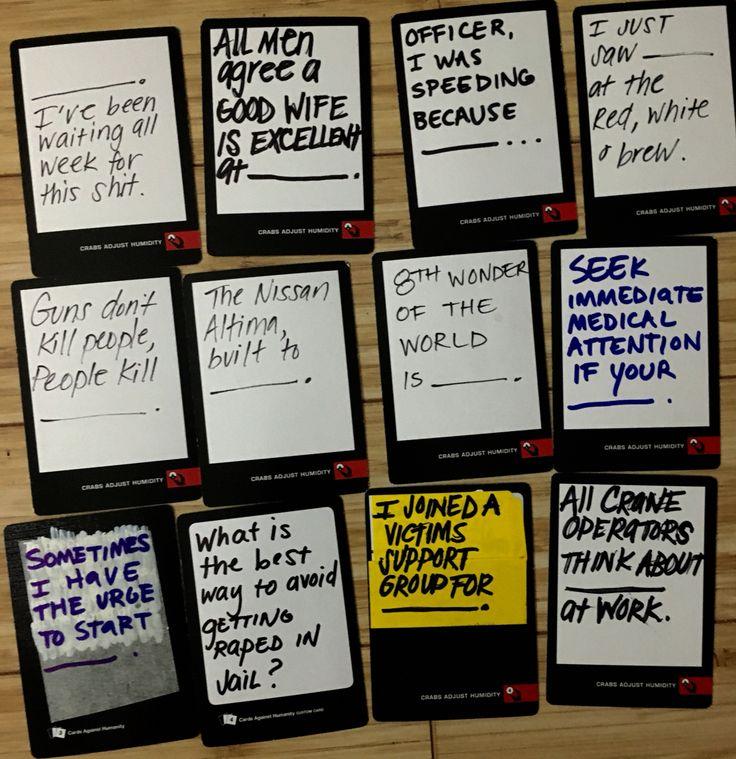 Against Humanity Card Ideas Cards Blank