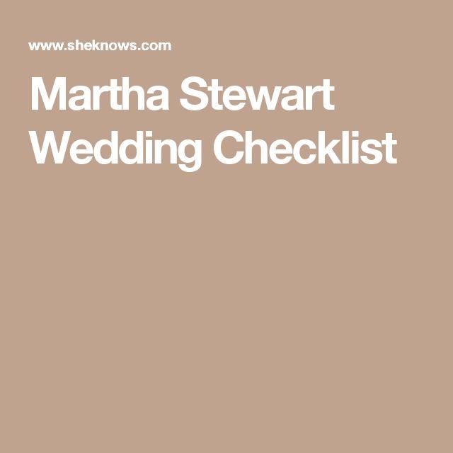 Martha Stewart Weddings Checklist