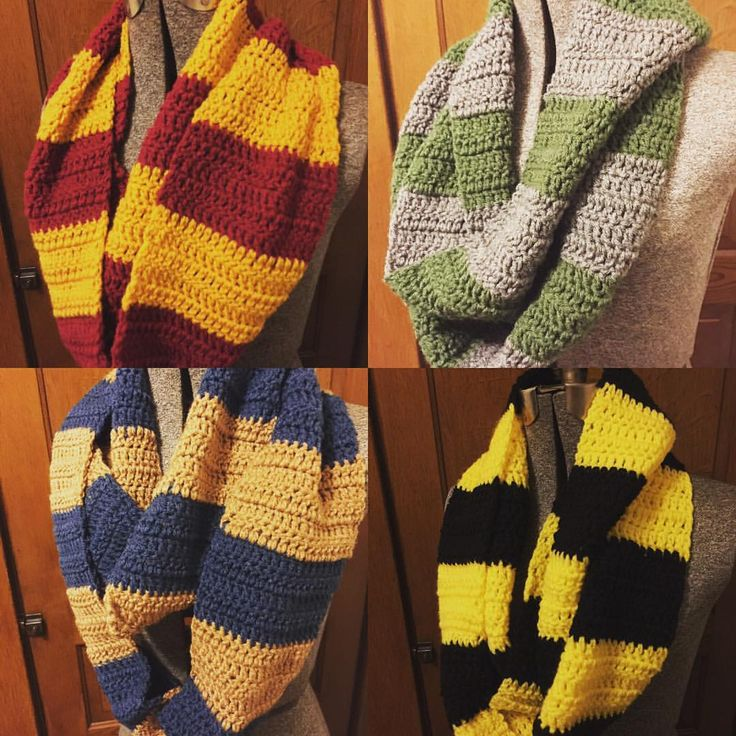 Harry Potter House Scarf Knitting Pattern Choice Image - knitting ...