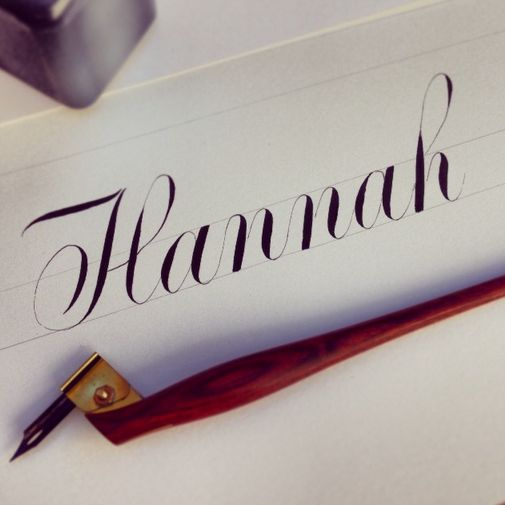 Name Hannah Fancy Writing