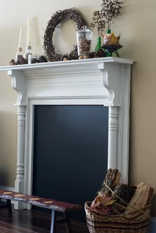 Diy Faux Fireplaces Blackboard Paint Fireplaces And Paint