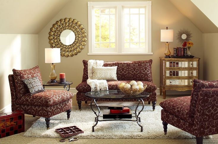 Red Accent Chairs Living Room