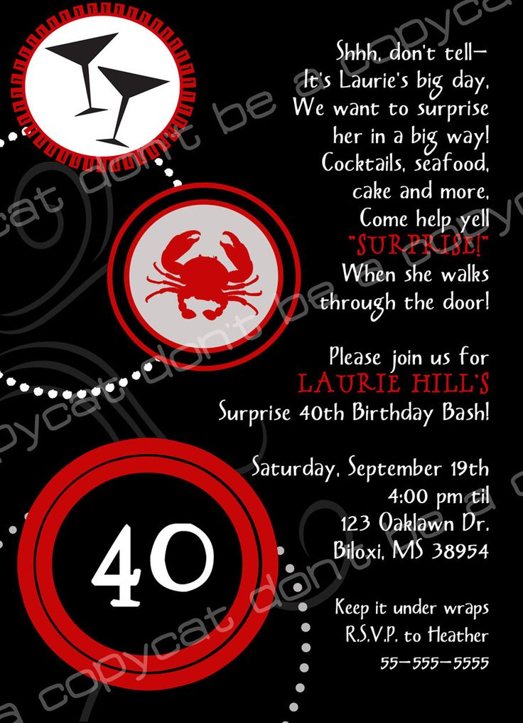 Birthday Theme 40th Ideas