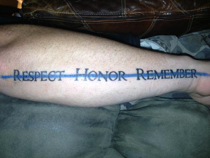 Fallen Ideas Tattoos Officer Police