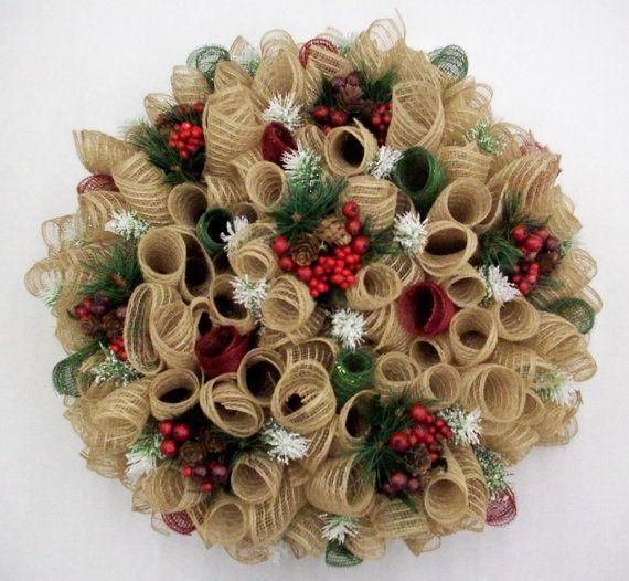 Winter Deco Mesh Wreath Ideas