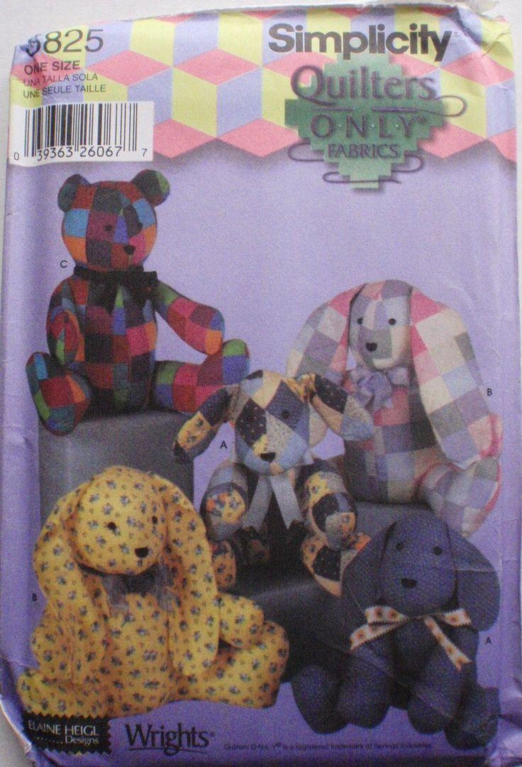 Bear Pattern Stuffed Simplicity 5461