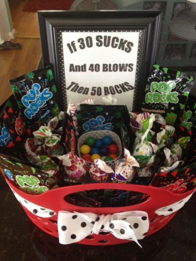 Candy Basket That Proves Things Get Better With Age If 30
