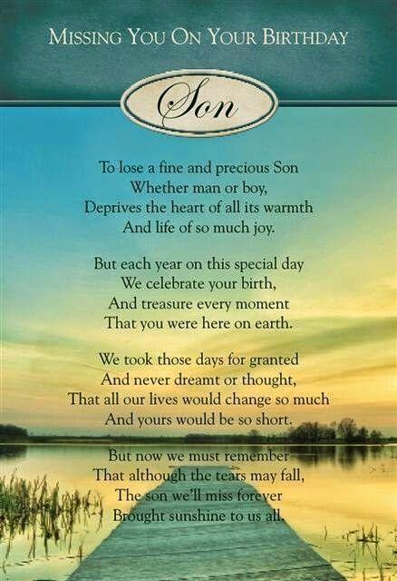 Heaven Sons Birthday Deceased