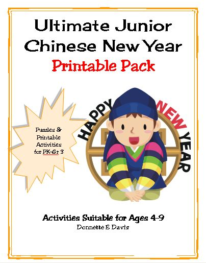 vocabulary bingo printable chinese new year pictures