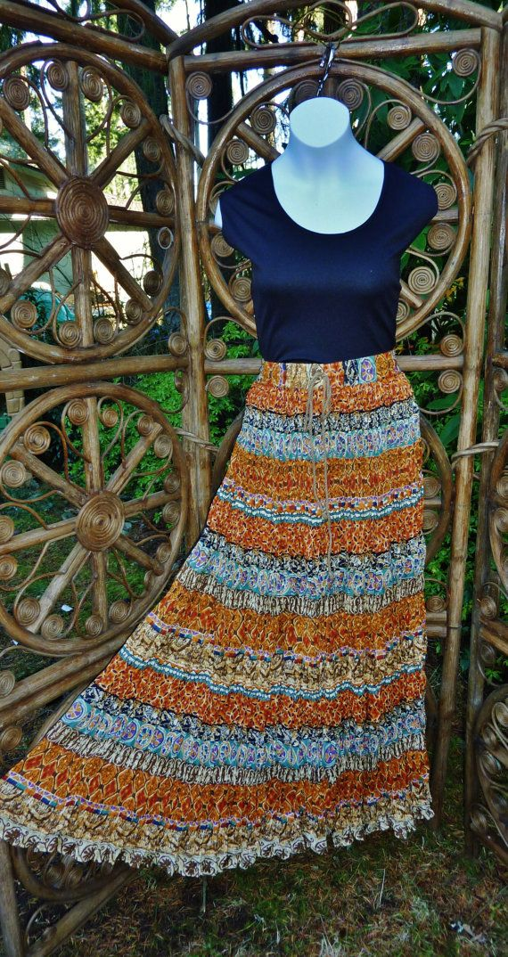 Layered Skirt Gypsy Boho