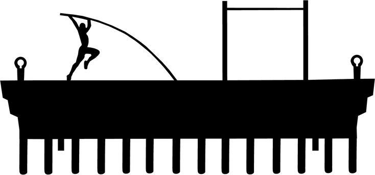Silhouette Vault Pole Art Clip