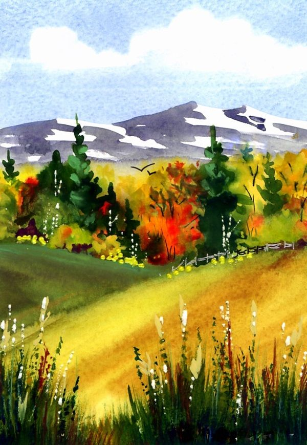 78+ images about watercolor scenery on Pinterest ...