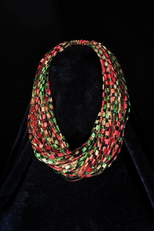 Ribbon Yarn Necklace Patterns