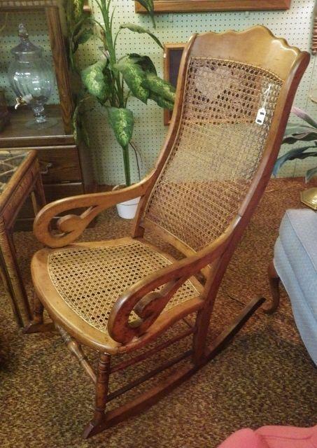 Chair Values Rocking Antique Cane