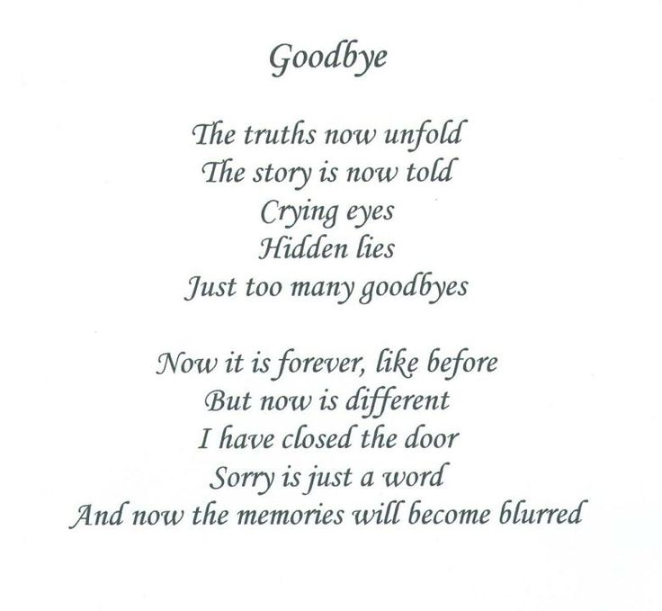 Love Poems Say Goodbye