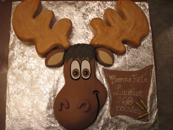 Moose Cake Fondant G 226 Teau Orignal Themed Cake Ideas