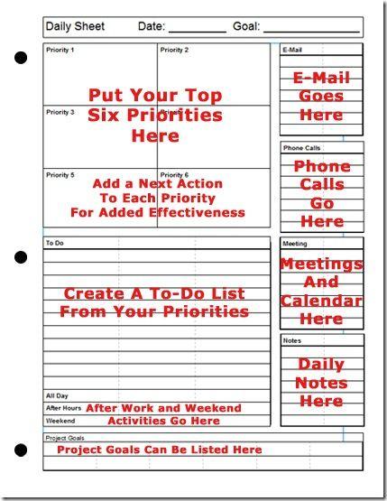 7 Habits Planner Template
