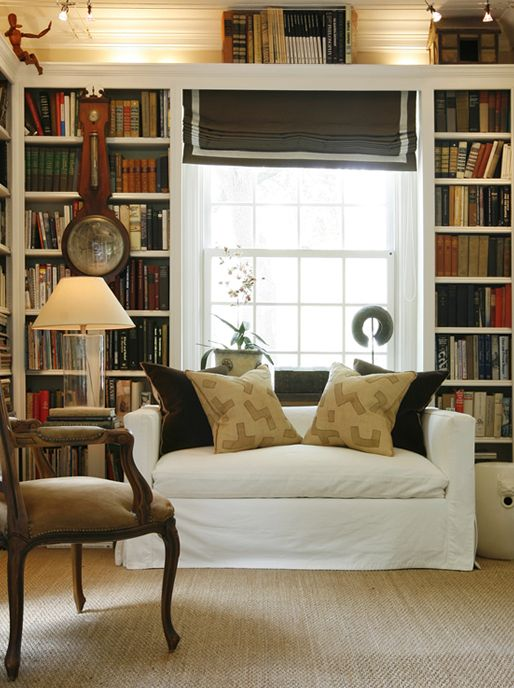 Black White And Bookshelves