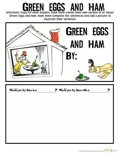 Green Eggs And Ham Dr Seuss Poem