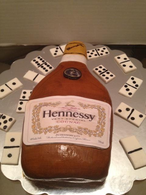 Hennessy Bottle Cake Rum Bottle Cakes Pinterest