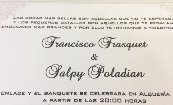 Custom Invitations Spanish