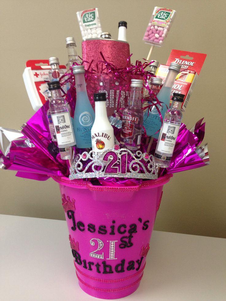 Best 25+ 21st Birthday Basket ideas on Pinterest   21 ...