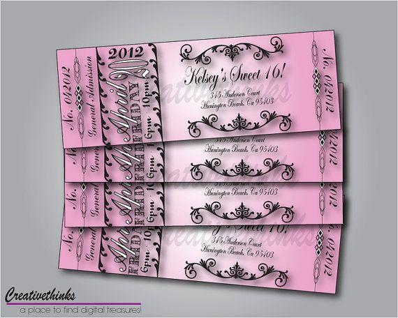 Printable Invitations Masquerade