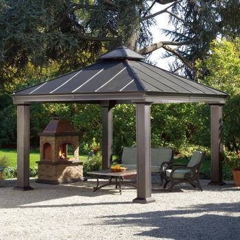 Costco Sunjoy 12 Ft X 12 Ft Royal Square Hardtop Gazebo