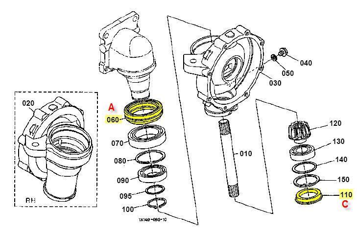 Front Axle Parts Diagram Kubota L35