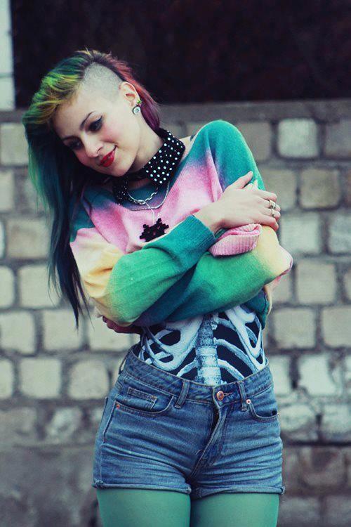 Cool Tye Dye Hair