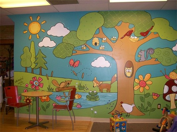 Great Mural For The Preschool Department The Colors The