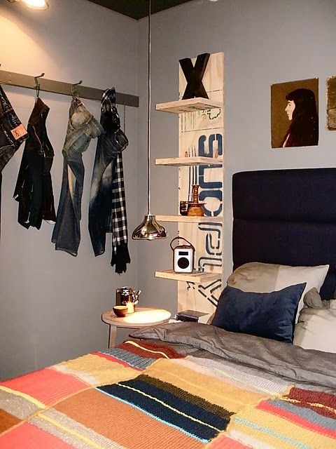 Teen Boys Room Shelving And Hooks Just What Lp Needs