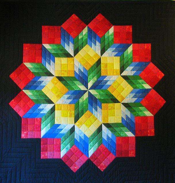 Amish Star Quilt Block Pattern