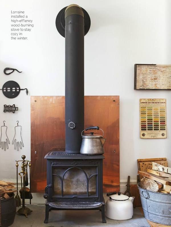 Burning Stove Wood Ideas Back Wall